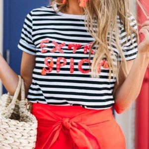 kate spade extra spicy tee